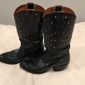 Frye black studded boots